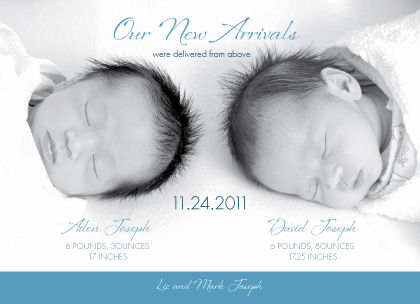 Birth Announcement with photo - Precious Two