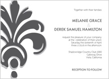 Wedding Invitation - bodoni ornament wedding invite