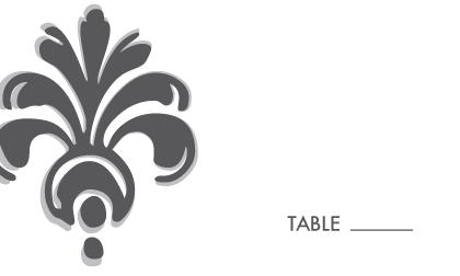 Place Card - Bodoni Ornament Wedding Invite
