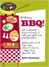 Birthday Party Invitation - bbq time!