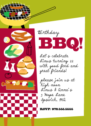 BBQ Time! - Birthday Party Invitation | Look Love Send