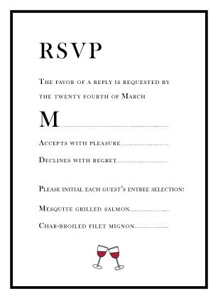 Response Card - modern wedding