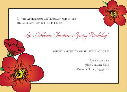Birthday Party Invitations Cards Birthday Party Announcements – Birthday Party Invitation Cards