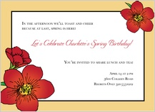 Birthday Party Invitation - nasturtium