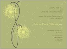 Wedding Invitation - dandelion affair