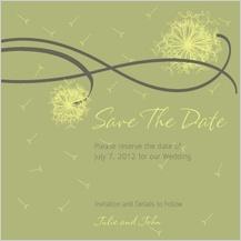 Save the Date Card - dandelion affair