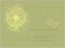 Response Card - dandelion affair