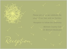 Reception Card - dandelion affair