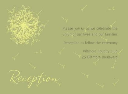 Reception Card - Dandelion Affair