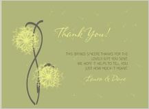 Wedding Thank You Card - dandelion affair