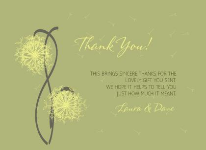 Wedding Thank You Card - Dandelion Affair
