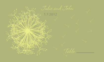 Place Card - Dandelion Affair