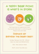 Birthday Party Invitation - birthday beary