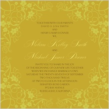 Wedding Invitation - floral scroll frame