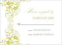Response Card - floral scroll frame