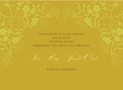 Reception Card - Floral Scroll Frame