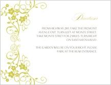 Direction - floral scroll frame