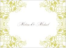 Wedding Thank You Card - floral scroll frame