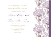 Wedding Invitation - lacy bouquets