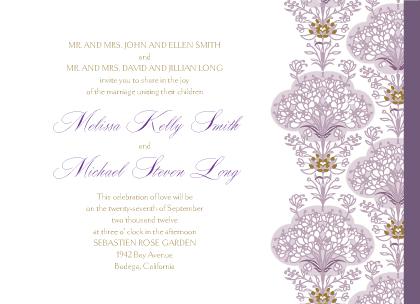 Wedding Invitation - Lacy Bouquets