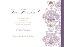 Save the Date Card - lacy bouquets