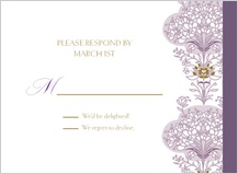 Response Card - lacy bouquets