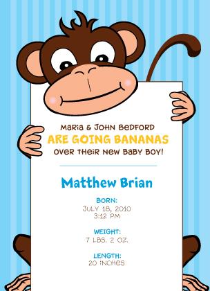 Birth Announcement - Going Bananas