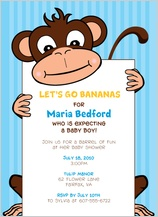 Baby Shower Invitation - going bananas
