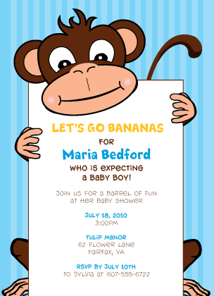 Baby Shower Invitation - Going Bananas