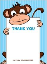 Baby Thank You Card - going bananas