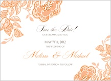 Save the Date Card - rose garlands