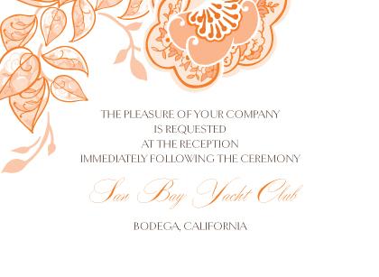 Reception Card - Rose Garlands