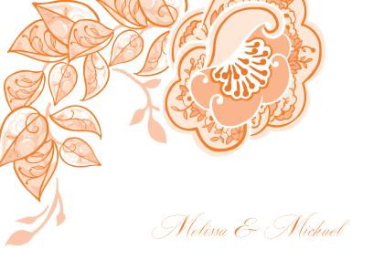 Wedding Thank You Card - Rose Garlands