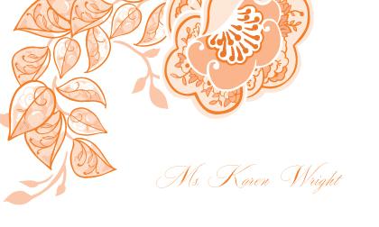 Place Card - Rose Garlands