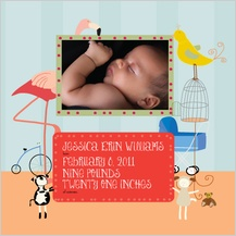 Birth Announcement with photo - stroller