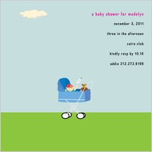 Baby Shower Invitation - stroller
