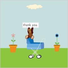 Baby Thank You Card - stroller
