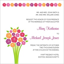 Wedding Invitation - fresh bouquet