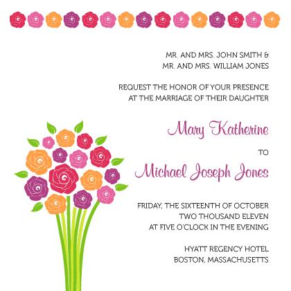 Wedding Invitation - Fresh Bouquet