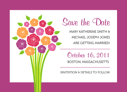 Save the Date Card - Fresh Bouquet