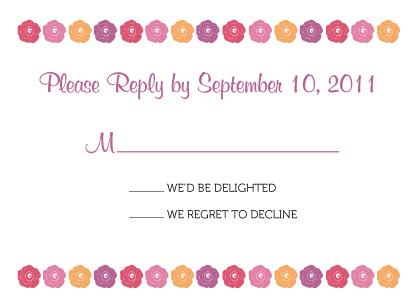 Response Card - Fresh Bouquet