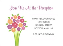Reception Card - Fresh Bouquet
