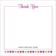 Wedding Thank You Card - fresh bouquet