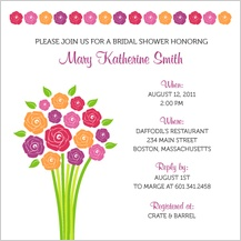 Wedding Shower Invitation - fresh bouquet