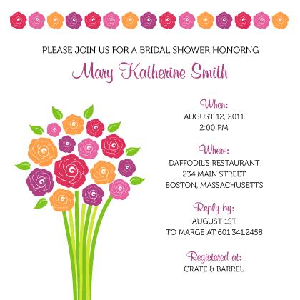 Wedding Shower Invitation - Fresh Bouquet