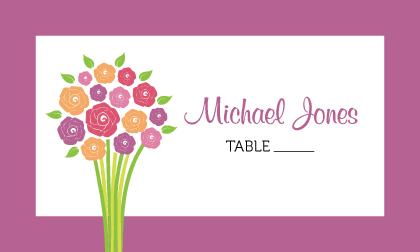 Place Card - Fresh Bouquet