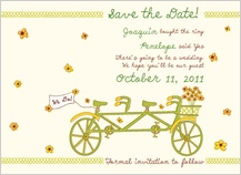 Save the Date Card - bicycle built for two