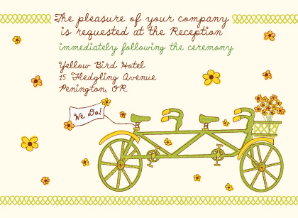 Reception Card - Bicycle built for Two