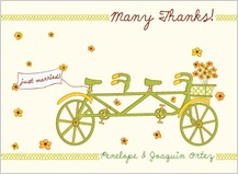 Wedding Thank You Card - bicycle built for two