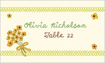 Place Card - bicycle built for two